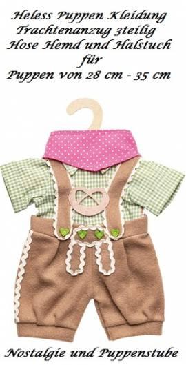 Puppen Kniebundhose Hemd Hose Trachtenhose für 28 cm bis 33 cm, Nr.  1114  - Bild vergrößern