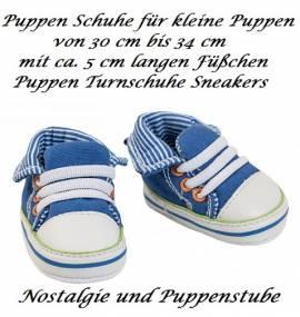 Puppen Schuhe Turnschuhe Sneakers 5 cm lang für kleine Puppen Heless, Nr. 4471 - Bild vergrößern