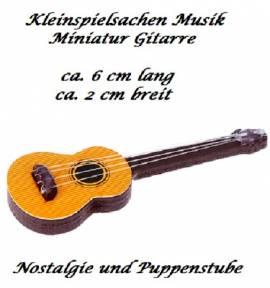 Kleinspielsachen Miniatur Musik Instrument Gitarre, Nr. 129 - Bild vergrößern