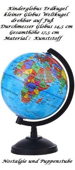 Kinderglobus Erdkugel Weltkugel Globus drehbar auf Sockel, Nr. 284 - Produktbild