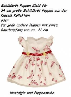 Puppenkleider Puppen Kleid Schmetterlingsmuster für 34 cm Klassik Puppen Schildkröt, Nr. 34768 - Bild vergrößern
