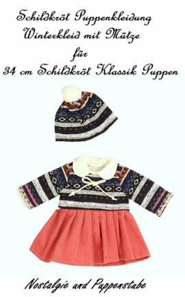 Schildkröt Puppen Kleidung Winterkleid mit Mütze für 34 cm Puppen, Nr. 34769 - Bild vergrößern