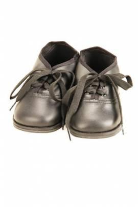 Schildkröt Puppen Schuhe Schnürschuhe Leder schwarz 12 cm Sohlenlänge 80193 - Bild vergrößern