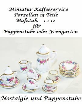 Puppenhaus Miniaturen Deko Teeservice Kaffeeservice Porzellan  Nr. 334 - Bild vergrößern