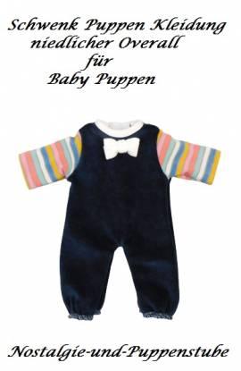 Schwenk Puppenkleidung Nicki Overall dunkelblaumit Ringelstreifen für 20 bis 22 cm Puppen, Nr. 10825 - Bild vergrößern