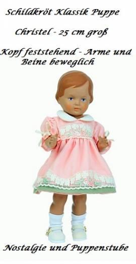 Schildkrötpuppe Christel 25 cm groß im rosa Kleid, Nr. 9425832 - Bild vergrößern