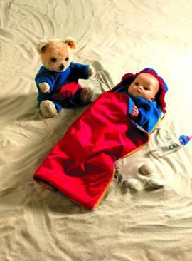 Heless, Outdoor Puppenschlafsack für 35 cm bis 45 cm Puppen, fürs Puppen Camping - Bild vergrößern