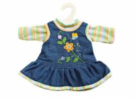 Heless peppiges Kleid Puppen Jeans Trägerkleid für 28 - 33 cm Puppen, Nr. 1510    - Bild vergrößern