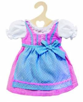Puppen Dirndl Puppen Trachten Kleid rosa für 35 cm bis 45 cm Puppen Heless 2111 - Bild vergrößern
