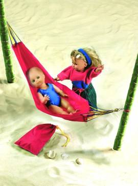 Heless Puppenzubeh�r, Outdoor Puppenh�ngematte f�rs Puppen Camping - Bild vergr��ern