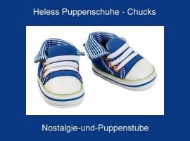 Heless Puppen Schuhe Sneakers Sport Schuhe Turnschuhe Chucks, Nr. 447 - Bild vergrößern