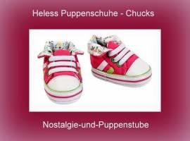 Heless Puppen Schuhe Puppen Sport Schuhe Chucks 6 cm lang für 38 - 45 cm Puppen 445p - Bild vergrößern