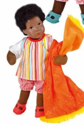 K�the Kruse Puppe, schwarzes D�umlinchen Martina - Bild vergr��ern
