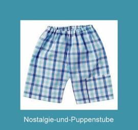 Schwenk Puppenkleidung, Shorts, blau-weiß kariert für 36 - 40 cm Puppen - Bild vergrößern