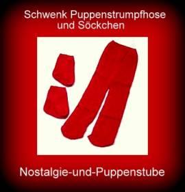 Schwenk Puppenkleidung, Puppen Strumpfhose mit Socken für Pupppen von 30 - 33 cm - Bild vergrößern