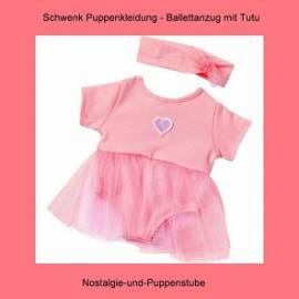Schwenk Puppenkleidung Ballett, Ballerina Anzug mit Tutu, rosa, für 30 - 34 cm Puppen  - Bild vergrößern