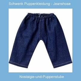 Puppenkleidung Puppen Jeanshose Puppenhose Emil Schwenk für 46 - 50 cm Puppen - Bild vergrößern