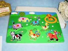 Holz Puzzle, Steckpuzzle, Tiermotive, für die ganz Kleinen ab ca. 2 Jahren - Bild vergrößern