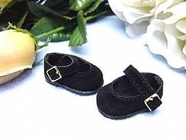 Schildkröt Puppenschuhe Velour schwarz für 25 cm Puppen mit 4 cm Füßen, 25178 - Bild vergrößern
