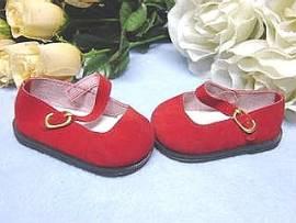 Puppen Schuhe rot Schildkröt für 5 cm Puppen Füße  34178 - Bild vergrößern