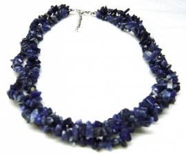 Halskette-Collier-Splitterkette ---- aus echten Steinen ---- Lapis Lazuli - Bild vergrößern