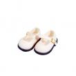 Schildkröt Puppenkleidung, weiße Velour Schuhe für 56 cm Puppen mit 8 cm langen Füßchen