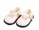 Schildkröt Puppen Kleidung Velourschuhe beige Sohlenlänge 9 cm 64178