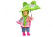 Heless Puppenkleidung Puppen Regencape mit Schirm und Regenstiefeln für  35 cm bis 46 cm Puppen