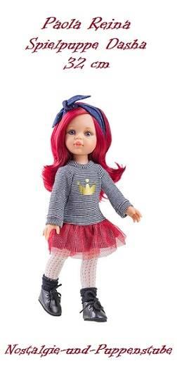 Künstler Puppe Spiel Puppe Dasha 32 cm Haare pink Paola Reina 4513