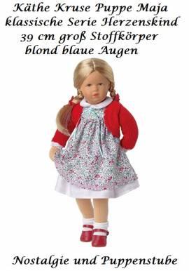 Käthe Kruse Puppe neue Serie Herzenskind Maja 39 cm blond blaue Augen, 39405