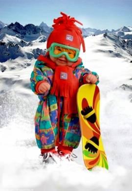 Puppen Zubehör Snowboard Wintersport für Puppen undTeddys  Heless 440 - Bild vergrößern