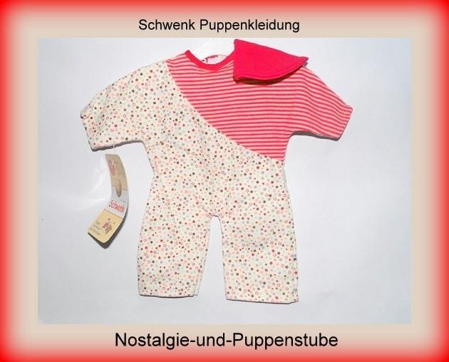 Schwenk Puppenkleidung bunter Overall für 28 cm Puppen