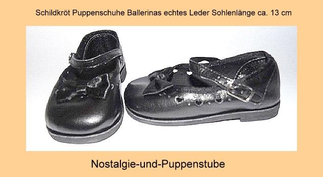 schildkr t puppenschuhe schwarze ballerinas mit schleife nur eur. Black Bedroom Furniture Sets. Home Design Ideas