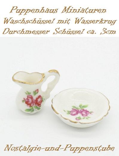 puppenhaus miniaturen deko porzellan wasch set sch ssel nur eur. Black Bedroom Furniture Sets. Home Design Ideas