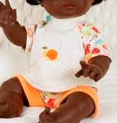 Schildkröt Puppenkleidung, 2-tlg. Spielanzug für 45 cm großes Schwesterchen