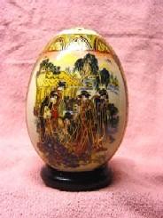 Traumhaft schönes Keramik Ei mit Japan Motiven