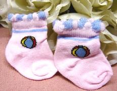 Heless Puppenkleidung, Puppenstrümpfe, rosa Söckchen mit Muster für 35 bis 45 cm große Puppen