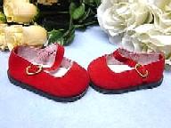 Schildkröt Puppenkleidung rote Puppenschuhe aus Velour für 56 cm Puppen