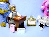 Zauberhaftes Puppenzubehör, Schreibgarnitur, Schulheft, Zeugnis, Stundenplan u. Stift